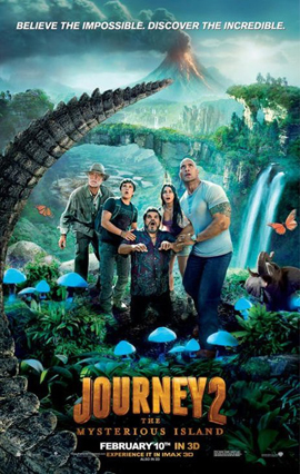 Journey 2: The Mysterious Island 3-D - one sheet