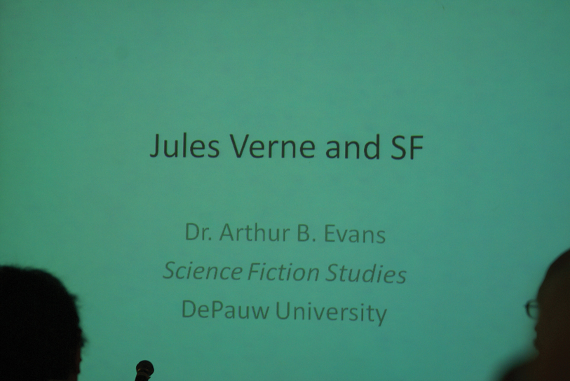 "DSC00043.jpg - Then came ""Jules Verne and SF"" as the next subject, talked about by..."