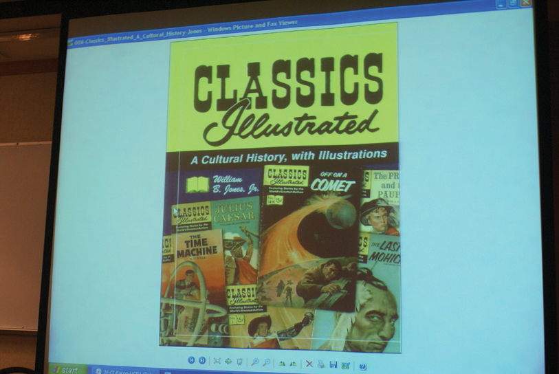 DSC00094.jpg - William showed several of the Classics Illustrated covers...